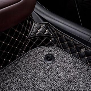 车丽友 全包围丝圈双层汽车脚垫 专用于2016-2019款北京现代领动内饰改装装饰脚垫