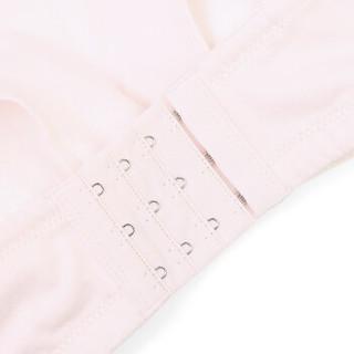 全棉时代 针织肩开扣插垫文胸 D80 粉色 1件/袋