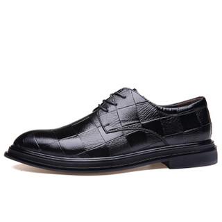 JIESILONG 捷斯龍 男士商务休闲皮鞋 7908