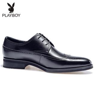 PLAYBOY 花花公子 男士正装商务休闲皮鞋 8AW602036D