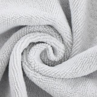 三利 纯棉条纹大浴巾 A面纱布B面毛圈 70×140cm 柔软舒适吸水裹身巾 415克 灰色
