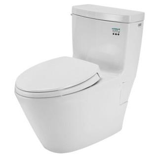 TOTO卫浴连体节水马桶超旋式冲洗缓降盖板包安装 CW870B 305坑距