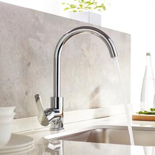 恒洁(HEGII)厨房水龙头123-411可旋转冷热单孔洗菜盆水槽龙头