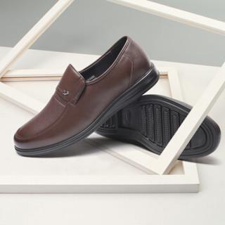 Fuguiniao 富贵鸟 男士舒适商务休闲鞋套脚头层牛皮鞋 S893332