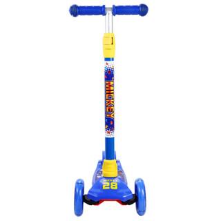 迪士尼(Disney)3-6岁儿童滑板车小孩玩具车四轮闪光可拆卸升降摇摆车小孩滑行脚踏车米奇DCA71115-A