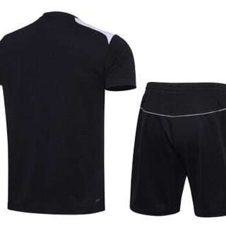 LI-NING 李宁 AATL105-3 羽毛球系列男子比赛套装 标准黑  3XL码