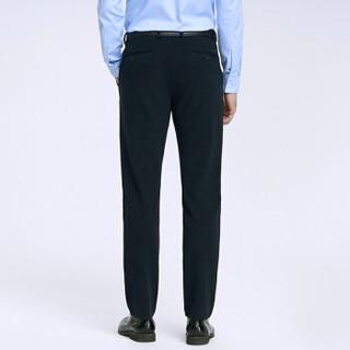 柒牌(SEVEN)休闲裤男 中青年商务时尚直筒修身休闲长裤 115S80061 藏青 34(175/86A)