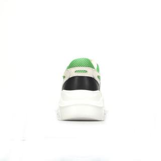 CAMEL 骆驼 女士 活力拼色系带网面休闲鞋 A83525618 米色 38