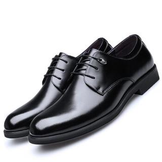 Ishmaiah 伊施玛雅 伊施玛雅(Ishmaiah)男士正装英伦系带商务休闲低帮婚皮鞋子男 1806 黑色 40