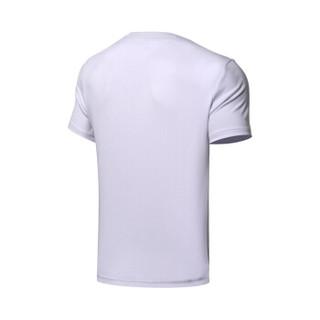 LI-NING 李宁 韦德系列 男 短袖文化衫 标准白 XL码  AHSN491-2