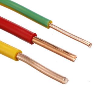 金山(JINSHAN)国标阻燃单芯塑铜线 硬线 电线 电缆 ZR-BV4平方 双100M/盘