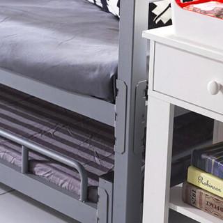 奈高钢制公寓床免螺丝学生员工双层床带床板上下铁床一分二单层床(定制款下单前联系客服)