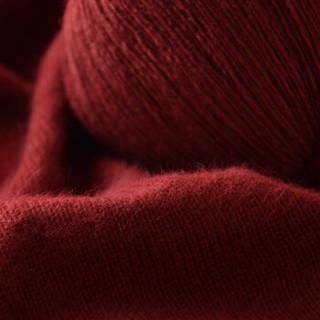 牧心 羊绒线 毛线 21/3中粗线 手编机织均可 婴儿宝宝毛线 围巾线Z05 深锈红