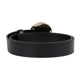 范思哲 范瑟丝 VERSACE VERSUS 奢侈品 男士黑色皮革狮头板扣皮带腰带 FCU0076 FCUO F460H 90