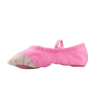 情妮娇 成人幼儿童舞蹈鞋软底练功鞋女童猫爪鞋跳舞鞋帆布瑜伽鞋芭蕾舞鞋10款粉红色36码