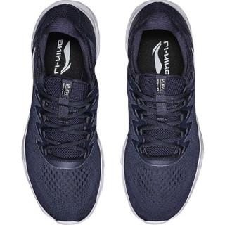 LI-NING 李宁 ARHN067-3 跑步系列 男子减震跑鞋 深豌蓝/白  45码