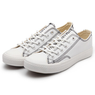 Feiyue飞跃 原宿风低帮情侣休闲帆布百搭基础款系带小白鞋 DF/1-798 白色 34