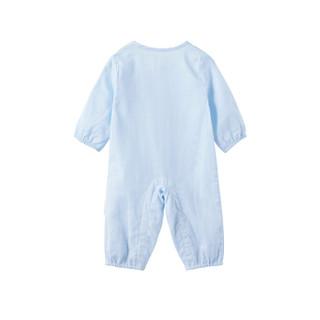全棉时代 婴儿衣服 婴儿纱布高支纱哈衣 73/48(建议6-12个月)天蓝 1件装
