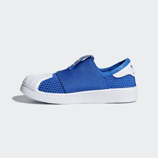 阿迪达斯(adidas)2018年经典款男婴童三叶草一脚蹬网眼贝壳头休闲鞋DB0921 蓝/白 9K/26.5码