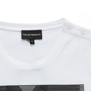 EMPORIO ARMANI/ 阿玛尼奢侈品男士图案印花针织T恤6Z1T6T-1JQ3Z WHITE-0100 M