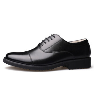 Dahongying 大红鹰 皮鞋男青年商务休闲正装时尚系带DHY291 黑色 43