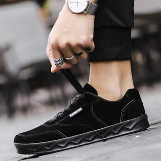 GOLDPOOL 高尔普 街头时尚运动男士休闲板鞋 18158GEP955 黑色  42