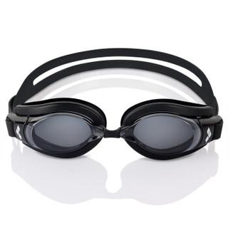 阿瑞娜arena近视泳镜 进口大框高清防雾防水舒适带度数游泳眼镜 男女通用游泳眼镜 AGY700XN-SMK-350 黑