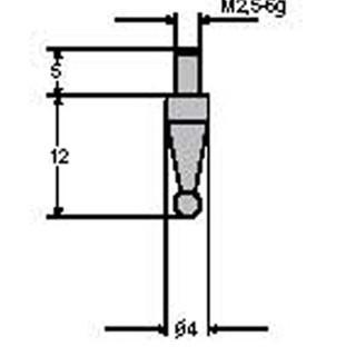 德国派尔沙(PREISSER)0710 173 钢测头    0-3.0mm 钢制