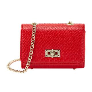 OMI 欧米 小包包女欧美斜挎链条小包新面料包 1186N10031H 红色
