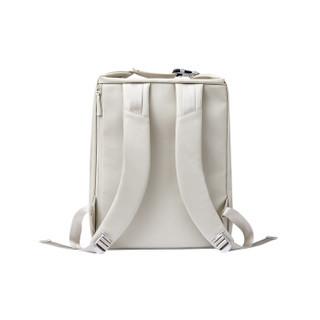 ITO 无边界纤皮革双肩包休闲旅行百搭背包月纤维 14英寸 白色