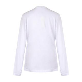 VERSACE JEANS 范思哲 奢侈品 男士白色棉质圆领logo长袖T恤衫 B3GSA72B 36591 003 M码