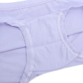 Aimer kids爱慕儿童内衣裤天使小裤莫代尔中腰平角内裤女童宝宝学生内衣 AK123V21紫色150