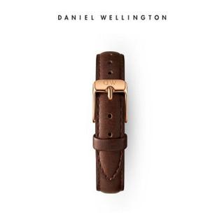 丹尼尔惠灵顿(DanielWellington)DW原装表带12mm皮带金色针扣女款DW00200180(适用于28mm表盘系列)