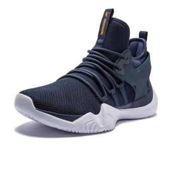 QIAODAN 乔丹 篮球鞋低帮耐磨减震透气运动鞋战靴 男 XM3580115 学院蓝/闪亮橘 39
