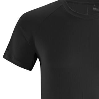 KAILAS 凯乐石 户外速干短袖t恤 男款智能冰感短袖功能T恤 男士透气吸汗快干衣  KG710498 墨黑 XXL