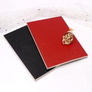 前通(front)A4商务拍纸本 PU皮面草稿本方格记事本笔记本子 80页/2本(红色+黑色)可撕页 P003-A401F