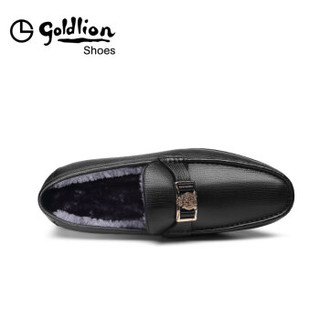 goldlion 金利来 男士商务休闲舒适轻便加绒保暖皮鞋 56784033501A