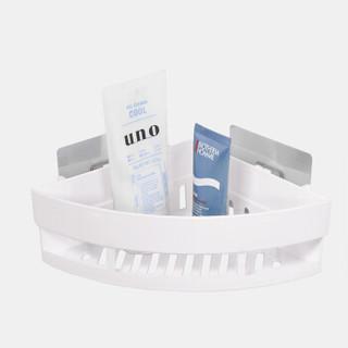 FOOJO免打孔强力无痕墙角置物架 三角卫生间浴室置物架 洗漱沐浴用品收纳架 白色