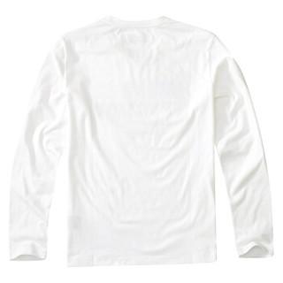 AK男装(AKSERIES) 2018秋冬新款都市特工植绒印花长袖T恤1809006 黑色 XXXL