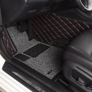 澳优美(AYM)全包围丝圈汽车脚垫 17-18款比亚迪秦100 秦80专用 典雅黑灰色