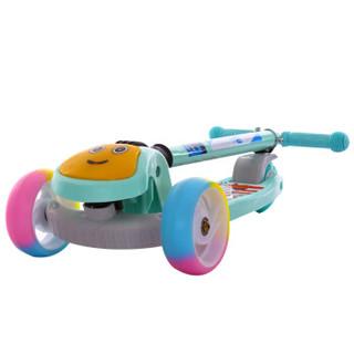 dodoto 儿童滑板车四轮闪光摇摆车可折叠脚踏滑行车男女宝宝童车冲浪滑板车玩具车绿色8166