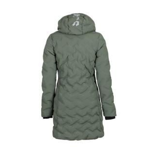ASICS 亚瑟士 女式保暖长款羽绒服 连帽夹克 2032A348-001 绿色 S