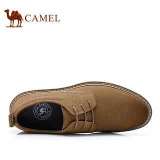 CAMEL 骆驼 潮流时尚轻盈反绒复古休闲牛皮鞋 A832266700 焦糖色 41