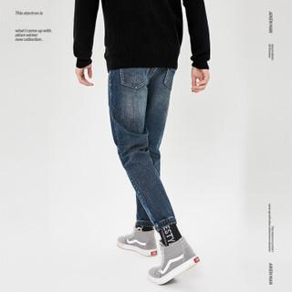 Aiken爱肯森马旗下品牌2018冬季男装牛仔长裤AK418201306牛仔深蓝