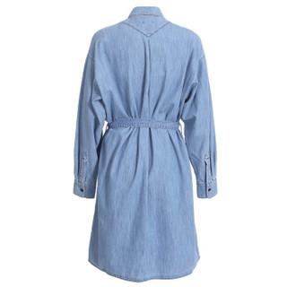 KENZO 高田贤三 女士淡蓝色棉质牛仔衬衫连衣裙 F852RO2296FT 76 40
