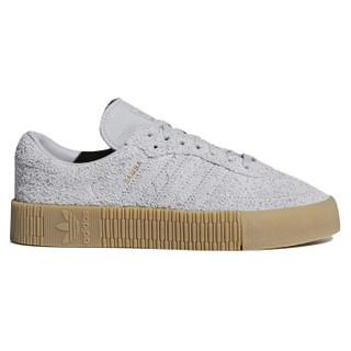 adidas 阿迪达斯 三叶草 女子 SAMBAROSE 潮流运动休闲板鞋 B37860 灰褐 36码/4