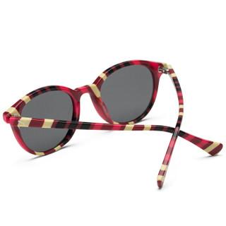 PUMA 彪马 eyewear 儿童款太阳镜墨镜 PJ0034S-001 多彩镜框烟灰色镜片 47mm