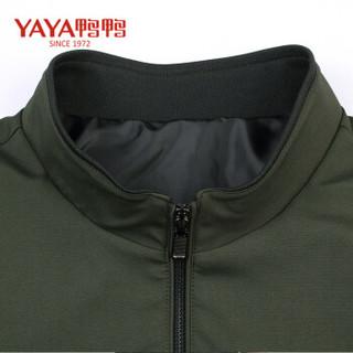 鸭鸭(YAYA) 2018秋季新款男士薄款立领外套商务休闲中青年茄克 BS8582003 黑色 L