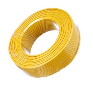 金山  电线电缆  国标单芯多股塑铜软线BVR50平方毫米  黄  1米  (定制预售300米起定 生产周期15天)
