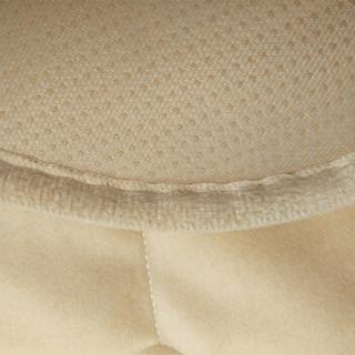 艾薇抱枕家纺 汽车坐垫单片无靠背四季通用座垫保暖车垫汽车用品 防滑免绑办公室椅垫 米色
